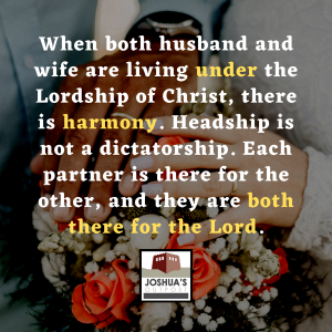 Do we understand our roles in marriage?