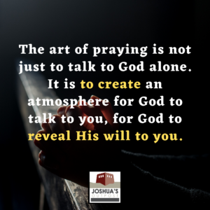 Praying is powerful